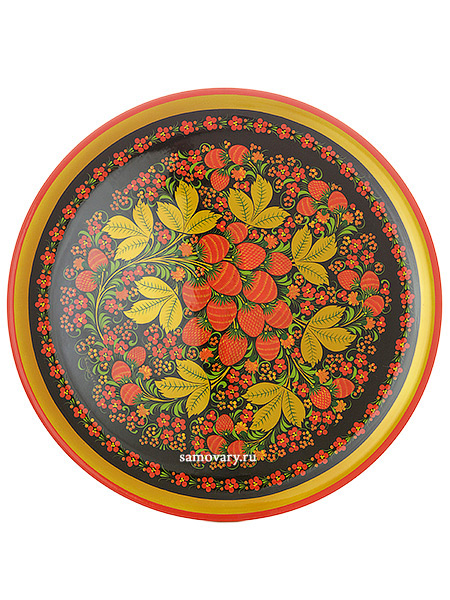 Тарелка-панно Хохлома 500Х20Деревянная тарелка-панно с хохломской росписью.<br>Размер - 500х20 мм.<br>