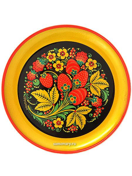 Тарелка-панно хохлома Клубника 150Х15Деревянная тарелка-панно с хохломской росписью.<br>Размер - 150х15 мм.<br>