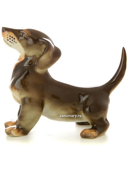 Скульптура Такса б.р., Императорский фарфоровый заводФарфоровая сувенирная фигурка животного.<br>