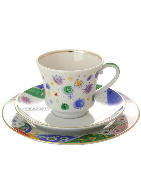 3-х предметный чайный комплект форма