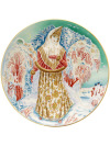 Тарелка декоративная форма Эллипс, рисунок Снегурочка, Императорский фарфоровый заводКоллекционная фарфоровая тарелка с авторской росписью.&#13;<br>Диаметр - 195 мм.<br>