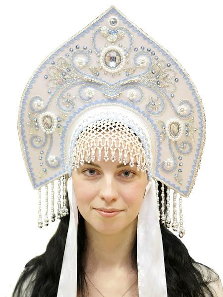 Кокошник Купола белыйСимвол традиционного русского костюма.<br>
