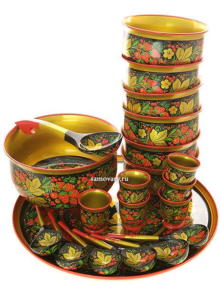 Набор для супа Клубника 21 предмет арт.63760000021Деревянный набор для супа из 21 предмета.<br>