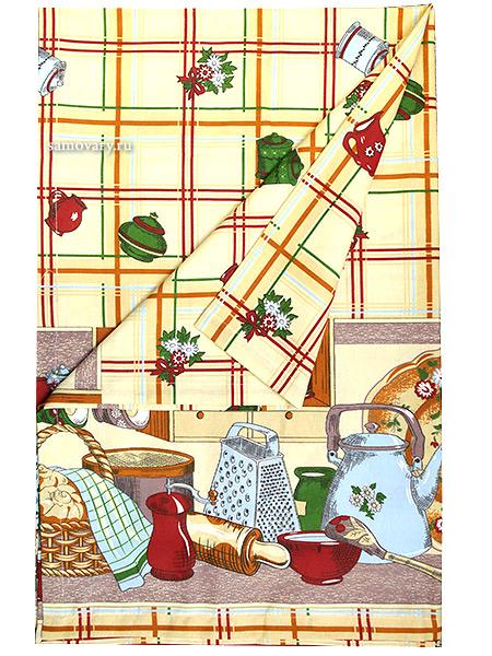 Скатерть Веселая кухня,  150х150Размер скатерти 150*150 см. &#13;<br>Хлопок 100%. 1 Сорт.<br>