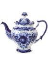 Чайник заварочный керамический Гжель Семейный №1Чайник керамический с ручной росписью.<br>