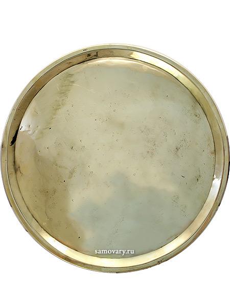 Поднос латунный антикварный круглыйПоднос старинный. <br>Материал - латунь.<br>
