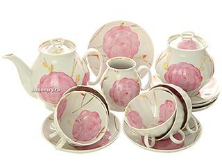 Дулевский чайный сервиз форма Белый лебедь рисунок Весенний