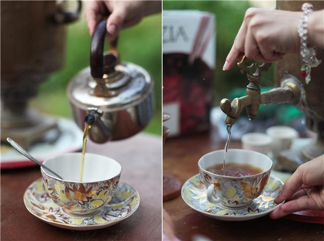 Чаепитие из самовара
