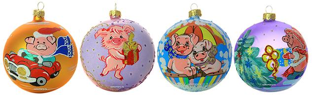 символ года елочные шары в магазине Тульские самовары